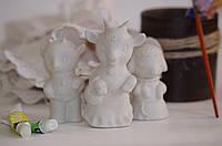 Детские товары для творчества. Коза + дочка + сын 11,5 и 9 см.