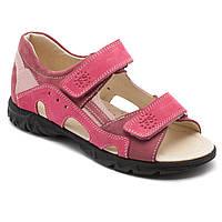 Розовые кожаные босоножки FS Сollection для девочки, подростковые, размер 32-39