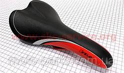 Сиденье на MTB VELO узкое, черное с красной вставкой