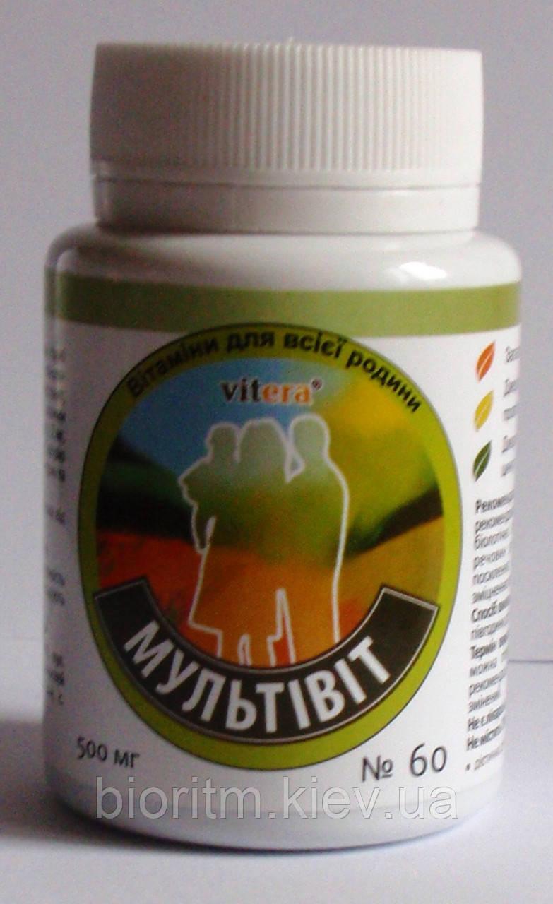 Мультивіт комплекс вітамінів, 60 табл. вітера
