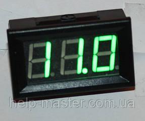 """Вольтметр DC 0-100V 0,56"""" зеленый"""