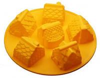 🔥✅ Форма силиконовая Empire ЕМ 7165 Домики 6 штук формочки для выпекания кексов