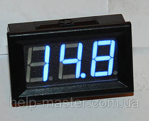 "Вольтметр DC 0-100V 0,56"" голубой"