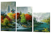 Модульная картина 379 река