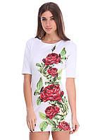 """Платье женское с принтом """"Rose"""", фото 1"""