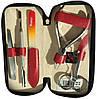 Немецкий маникюрный набор из 5 предметов Niegelon Solingen 07-0833 red