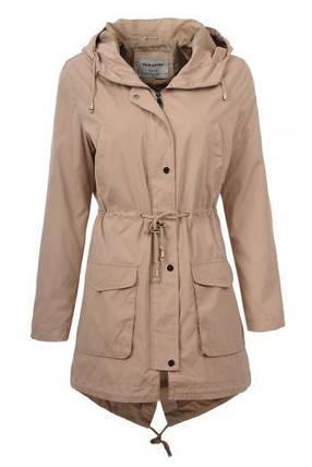 Парка-куртка женская Glo-story бежевого цвета, фото 2