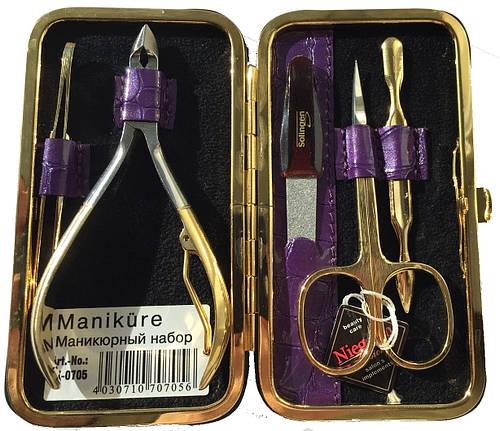 Необычный маникюрный набор из 5 предметов Niegelon Solingen 07-0705 purple
