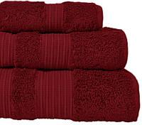Махровое полотенце 50х90 бамбук/хлопок London RED WINE CASUAL AVENUE