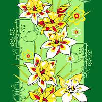Ткань полотенечная вафельная набивная арт.128021 (ЗИН) 1166 40СМ