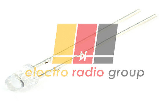 Светодиод  3мм желтый прозрачный  2000-4000мКд 3AY4MC