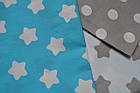 Детская сменная постель с бирюзовыми звёздами., фото 2