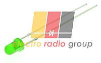 Светодиод  3мм зеленый диффузный   40-80мКд 30YG1D30-80