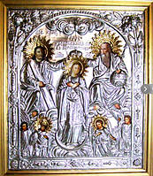 Икона Коронование Пресвятой Богородицы №159