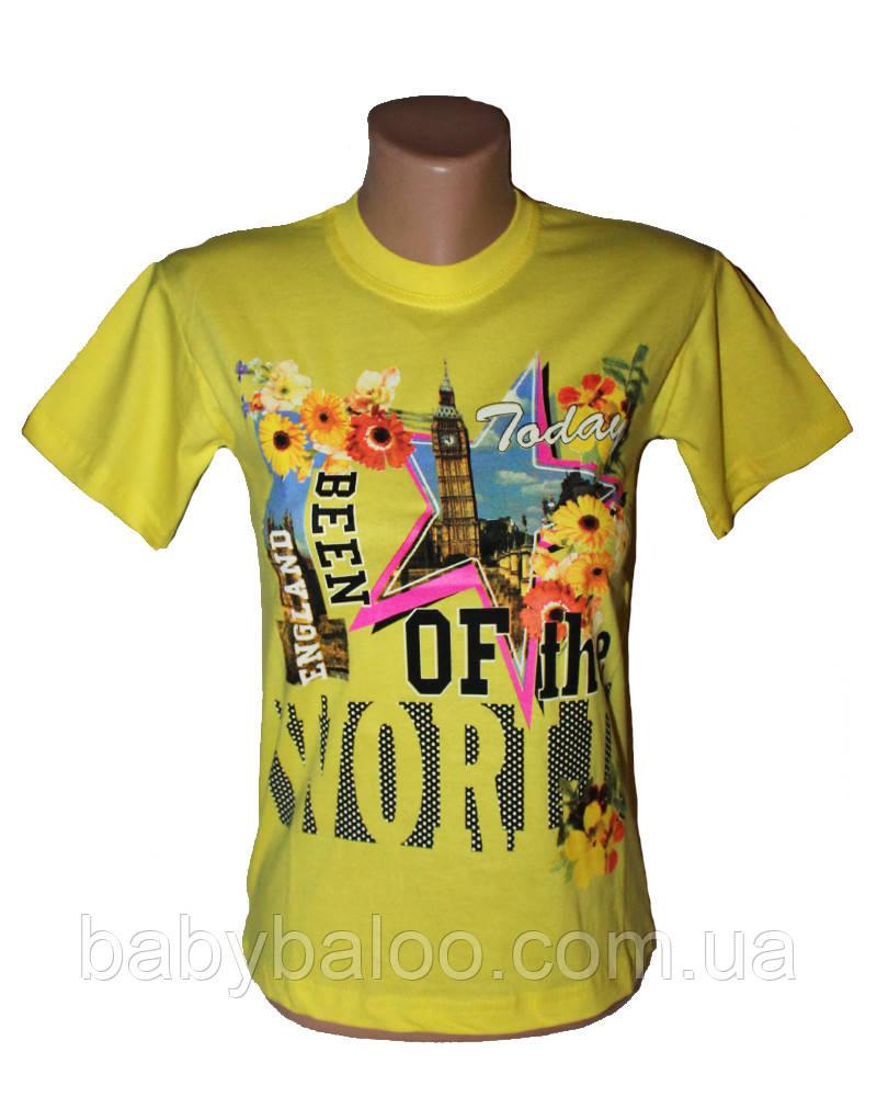 Летняя футболка для девочки подростка (от 8 до 10 лет)