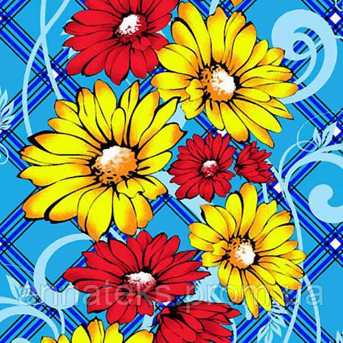 Ткань полотенечная вафельная набивная арт.124307  (ЗИН) 1195 40СМ