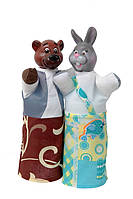 "Набор кукол-рукавичек ""МЕДВЕДЬ И ЗАЯЦ"" (2 персонажа)"