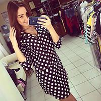 Женское платье-туника черное DВ-504