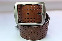 """Ремень 'Cowboy' 45 мм коричневый с узором """"Dots"""""""