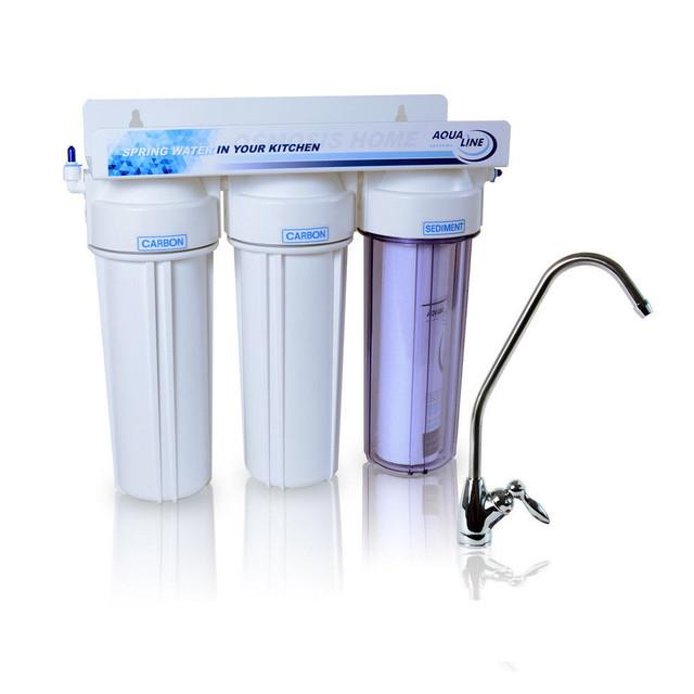 проточный фильтр очистки воды Aqualine