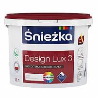 Матовая латексная краска ŚNIÉZKA DESIGN LUX (Снежка Дизайн Люкс), 4 кг (снежно-белая)