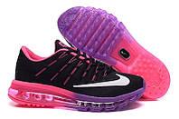 Кроссовки женские Nike Air Max 2016 D198 черно-розовые