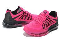 Кроссовки женские Nike Air Max 2015 D199 розово-черные