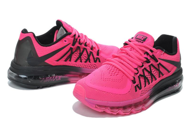 17b5bff4 Кроссовки женские Nike Air Max 2015 D199 розово-черные - Брендовая одежда  от интернет-
