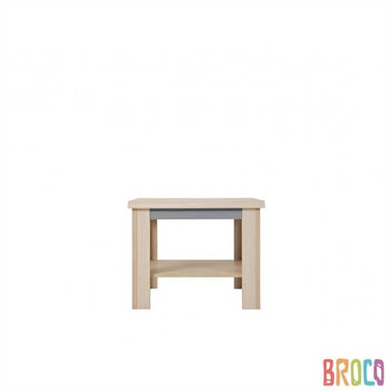 Деревянный столик BRW Caps LAW/60 дуб светлый belluno/серый, фото 2