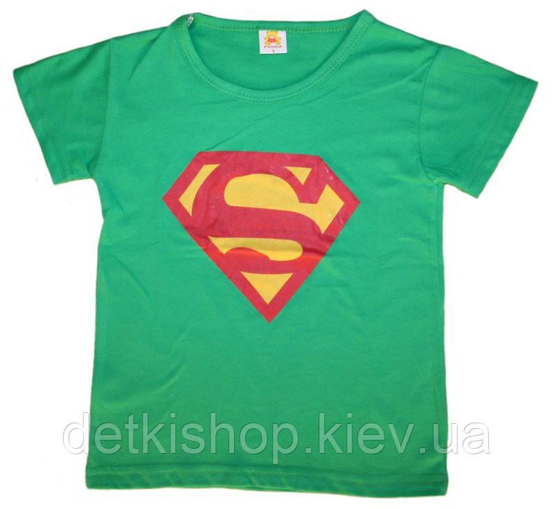 Футболка «Супермен» (зелёная)