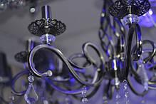 Люстра, 8 ламп, подвесная, на цепи, подсвечники, фото 2
