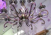 Люстра, 8 ламп, подвесная, на цепи, подсвечники, фото 3
