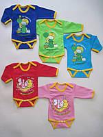 Боди начес с длинным рукавом  для малышей