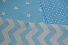 """Сменная детская постель """"Голубой зигзаг, звёзды и горошек"""", фото 2"""