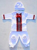 Трикотажный комплект на крестины для мальчиков, фото 1