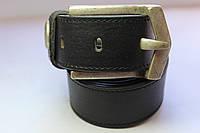 Ремень кожаный черный 'NoLimit' 40 мм