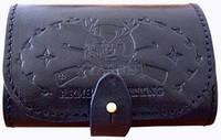 Подсумок кожаный  с тиснением 7,62 к на 7 патронов