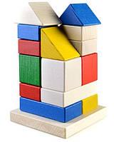 Деревянные Пирамидки-конструктор Дом на 16 деталей (Ду-22) Руди