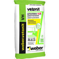 Vetonit VH white финишная водостойкая шпаклевка, 20 кг (белая)