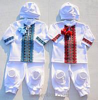Вышитая одежда на выписку для мальчиков близнецов