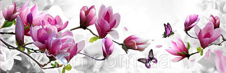 Набор алмазной вышивки Бабочка на ветке с цветами KLN 20 х 40 см (арт. FS040)
