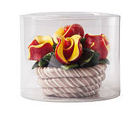 Леденец Корзина с розами 400 гр Roks