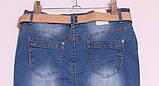 Джинсова спідниця великих розмірів, фото 4