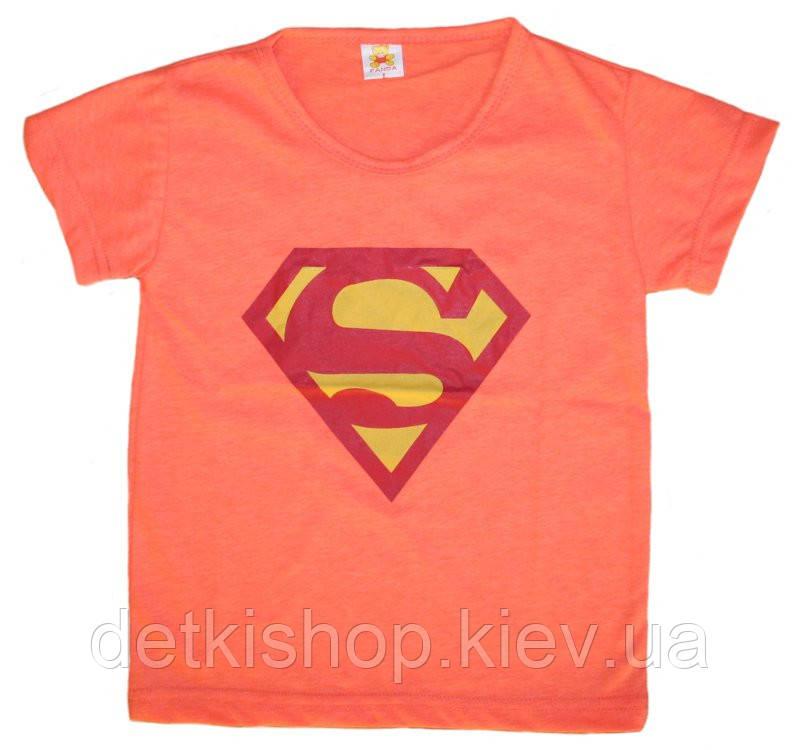 Футболка «Супермен» (оранжевая)