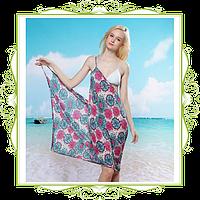 Пляжное платье-трансформер Лютики