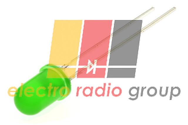 Светодиод  5мм зеленый диффузный 120мКд 50YG1D30-120