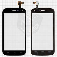 Сенсорный экран (touchscreen) для Explay A500, черный, оригинал