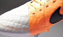 Бутсы Nike Tiempo Legend V SG 631614-008 Белые найк темпо (Оригинал), фото 2