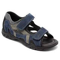 Темно-синие подростковые босоножки FS Сollection для мальчика, кожаные, размер 32-39