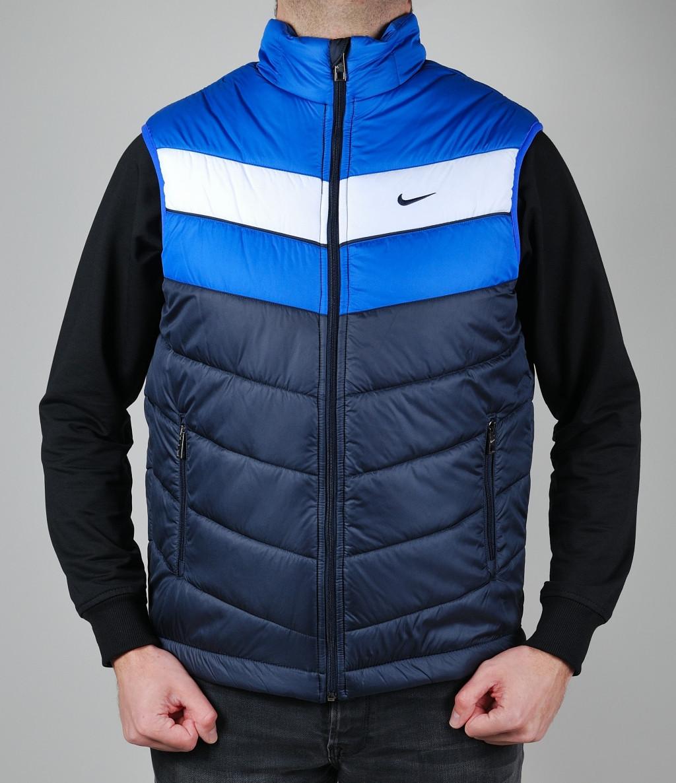 Жилетка мужская Nike 1457 Тёмно-синяя - Брендовая одежда от  интернет-магазина «Trendy d01147c52f493